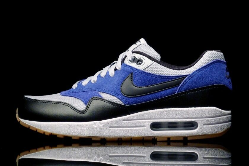Nike Air Max 1 Essential Grey Mist Black Lyon bluee Running Royal More Uptempo 97