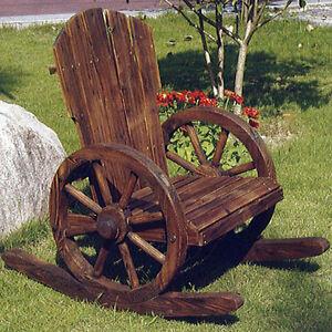 roue de charrette bascule bois massif chaise br l jardin accoudoir zly 101551 ebay. Black Bedroom Furniture Sets. Home Design Ideas