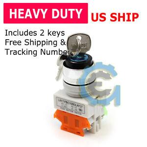 22MM-On-Off-Locking-Key-Switch-Security-Lock-Heavy-Duty-Keyed-Power-Ignition