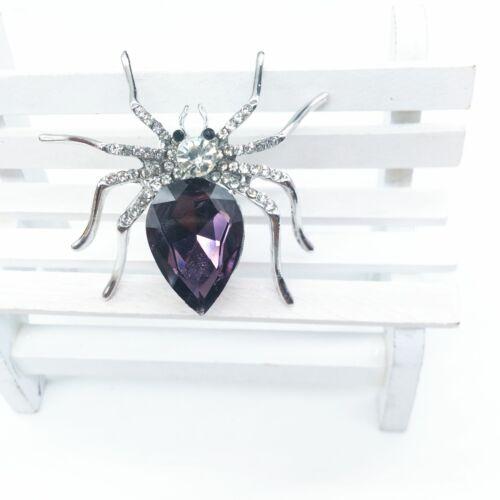 Strass Spinne Brosche Kristall Insekt Pinnen Für Hemd Suit Tasche Zubehör