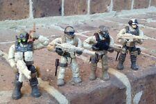 Mega Bloks 06825 Call of Duty Desert Troopers Figures #1,  3, 4, & 5