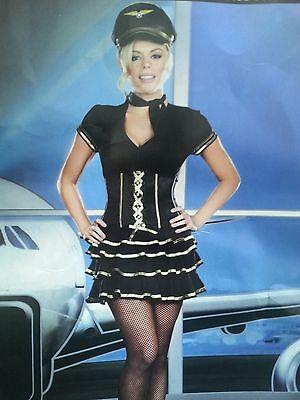 Pilot Captain Costume Air Hostess Dress Up Complete Costume