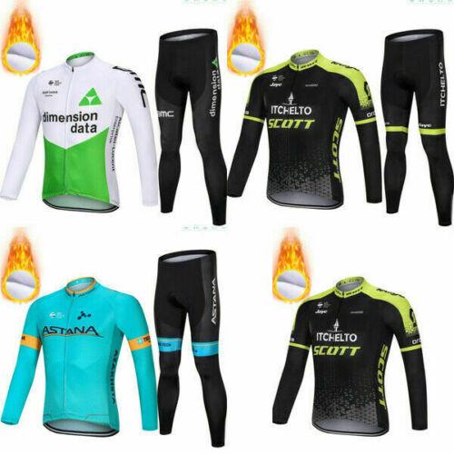 Cycling Jersey Astana Pro Scott   Keep Warm Fleece Bike Suit Winter Bike Clothes