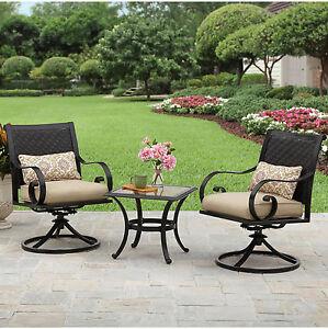patio furniture set 3 metal outdoor bistro table