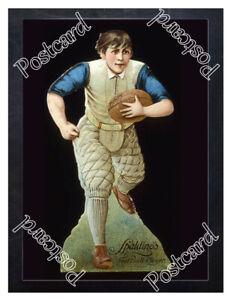 Historic-Spalding-Sporting-Goods-Football-Advertising-Postcard