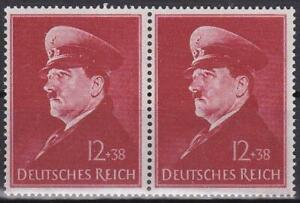 Nazi-Germany-3rd-Reich-Hitler-039-s-52nd-Birthday-Pair-Superb-MNH