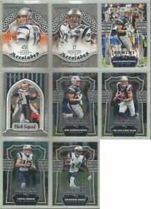 New-England-Patriots-8-card-2017-Panini-insert-amp-parallel-lot-all-different