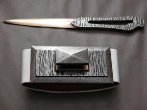 antique art deco set of Blotter & letter opener by Michel ZADOUNAISKY pvQJYDAM-07185303-331809231