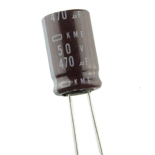 Nippon Chemi-Con 470uF 50V 50 VDC Electrolytic Capacitor Radial Leads USA Seller