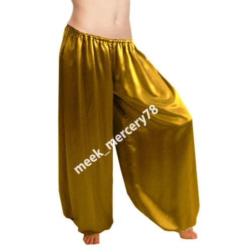 Details about  /Satin Harem Yoga Pant Girls Belly Dance Harem Pant Tribal Costumes long S10