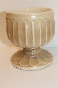 Vintage McCoy Footed Floraline Ribbed Vase Planter # 429 USA MCM Pottery