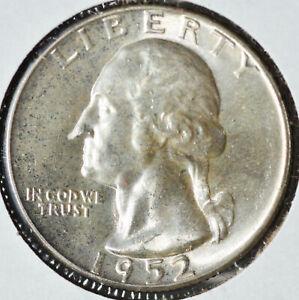 1952 25C Washington Silver Quarter  BU