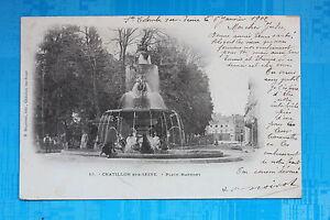 Tarjeta-Postal-Antigua-Chatillon-Sur-Seine-Plaza-Marmont