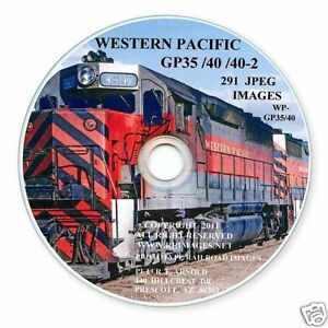 WP-Western-Pacific-Railroad-GP35-40-40-2-Diesel-Slides-on-Photo-CD-BN-UP-DRGW