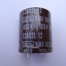 1 pc 100uF, 450V  Electrolytic Capacitor. Snap-in. P/N EKMH451VSN101MQ30S