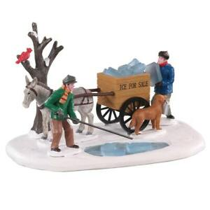 Lemax Christmas Village Town Ice Rakers 93438 Dog Horse Wagon Cardinal Tree