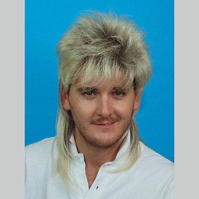 Mullet Wig Blonde Hair 70/'s 80/'s Bogan Men/'s Fancy Dress Costume Wig