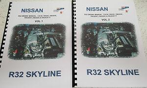 nissan r32 skyline engine manual ca18i rb20e rb220de rb20det rb25de rh ebay co uk Nissan RB26 Engines Nissan Skyline Engine Twin Turbo