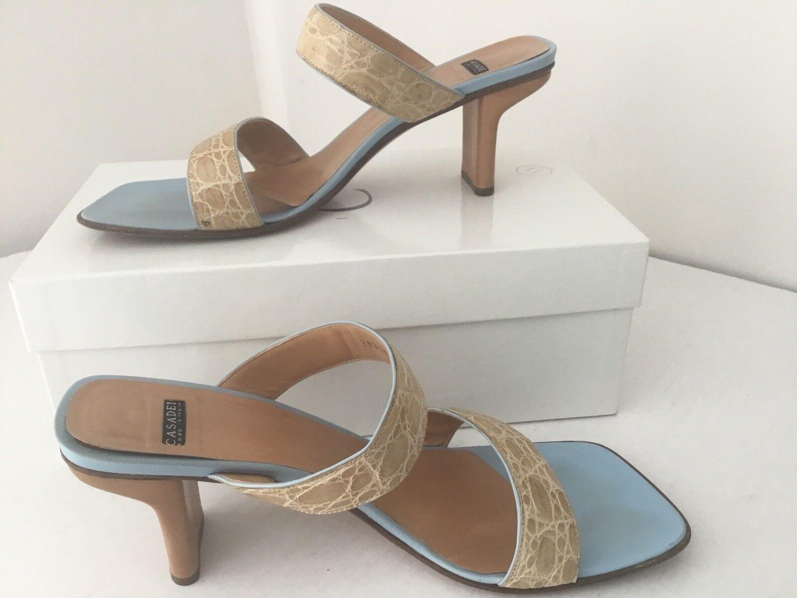 Casadei Beige / blau Heels 9.5 schuhes  Size 9.5 Heels Italy 35ad8a