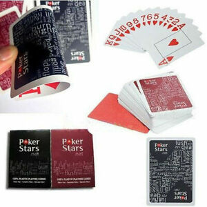 Jumbo-Index-Poker-100-PLASTIC-Deck-Playing-Cards-Poker-New-Casual-Casino-T6X1
