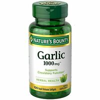 2 Pack - Nature's Bounty Garlic 1000 Mg Softgels 100 Each on sale