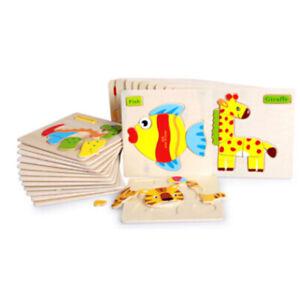 3D-Puzzle-Legno-Animali-Forma-Ippopotamo-Educativi-Giocattoli-Bambini-Impar-np