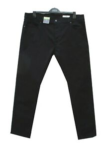 Marks-and-Spencer-Black-Slim-Leg-Jeans-with-Button-Fly-amp-Stretch-W40-L33