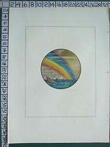 C1930 Francese Stampa L'Illustrazione ~ Arcobaleno Sopra Il Mare ~ Schmier
