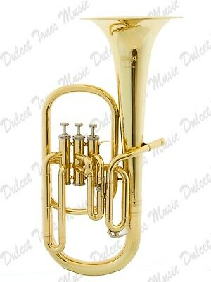 Humor Stagg Eb Three Valve Tenor Horn Brass Body Clear Lacquer Finish *fast Postage* Musical Instruments & Gear Alto Horns