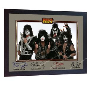 Kiss-American-rock-band-music-signed-autograph-photo-print-poster-KISS-Framed