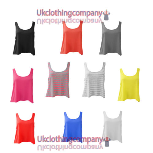 s to xl Ladies short sleeve Womens Bella+Canvas Flowy Boxy T-Shirt,Tank Top