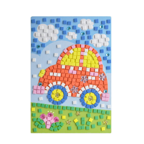 Mosaics Creative Puzzles Animals Arts Craft Stickers for Kid Educational Toy New