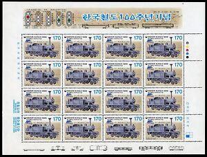 Korea-Sued-1999-Eisenbahn-Train-Dampflokomotive-Mogul-2026-Kleinbogen-MNH