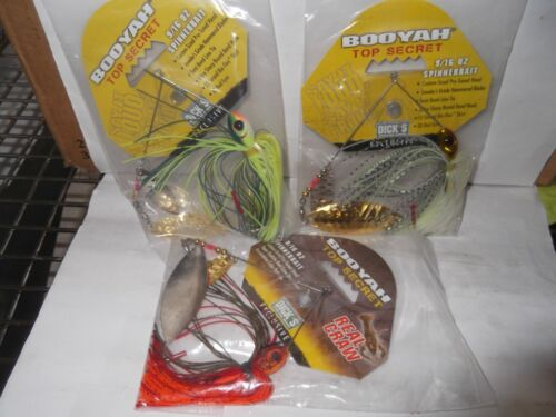 3  BOOYAH TOP SCERET  spinner baits 9//16 3 different colors