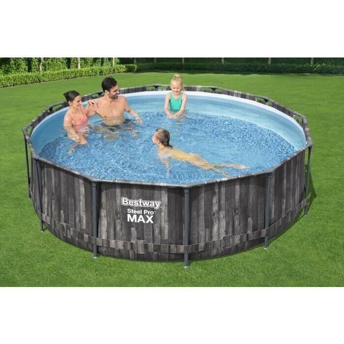 NEW Bestway 12 ft x 39.5 inch (3.66m x 1m) Steel Pro Max Outdoor Swimming Pool