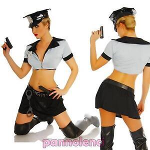 Caricamento dell immagine in corso Costume-vestito-carnevale-POLIZIOTTA -polizia-5-pezzi-cappello- c3d424a98e68