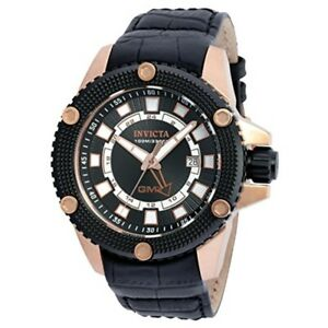 Invicta-Men-039-s-48mm-Speedway-GMT-Date-Leather-Strap-Stainless-Steel-Watch-19305