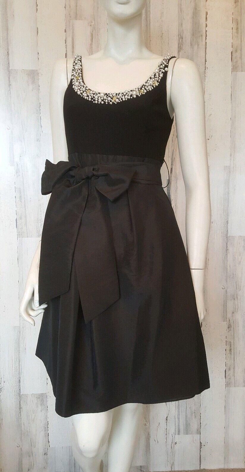 Eliza J  New York schwarz fit flare formal sleeveless Dress sz 6 NWT