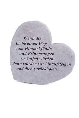 """Business & Industrie 2019 Neuer Stil Gedenkherz """"wenn Die Liebe ..."""" Vidroflor Steinguss Friedhof Frostfest 08561"""