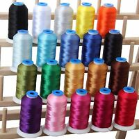 Machine Embroidery Thread Sets - Polyester 20 Colors - 10 Sets - 1000m Spools