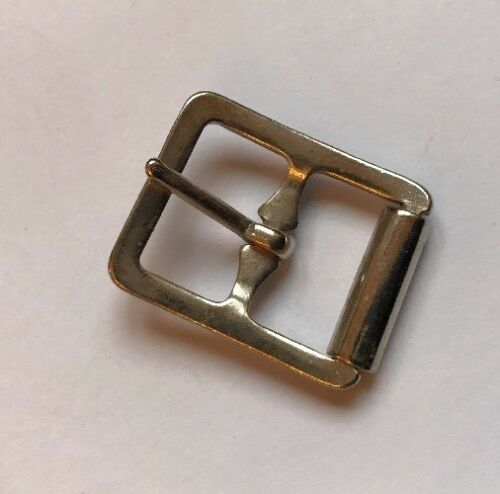 Vintage Small 16mm Metal Roller Belt Buckle Antique Nickel Replacement Strap