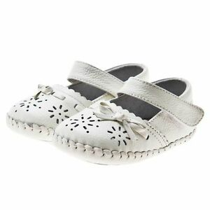 Baby-Girl-039-s-Infant-Toddler-Child-039-s-White-Soft-Leather-Christening-Cruiser-Shoes