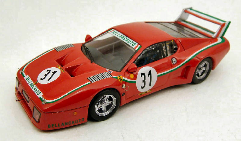 Ferrari 512 Bb Dnf 1000 Km Km Km Monza 1980 Dini   purpleti 1 43 Model BEST MODELS 52dd26
