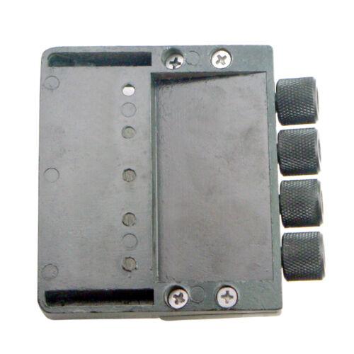Schwarzes 4 String Bass Bridge Saitenhalter System Für Headless Bassgitarren