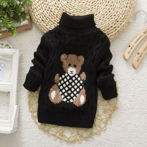 winter boy girl kid thick Knitted bottoming turtleneck high pullover sweater