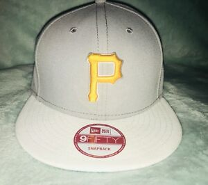 Pittsburgh-Pirates-Baseball-Hat-New-Era-Adjustable-Flat-BriM-SnapBack-Vintage