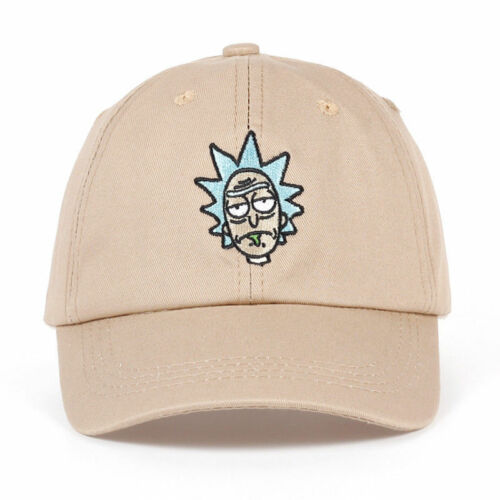 Rick and Morty New Khaki Dad Hat Crazy Rick Baseball Cap American Anime Cotton