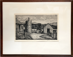 Luigi Lucioni, Restful Ruins, Etching, signed in pencil