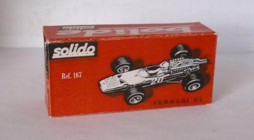 rot Repro Box Solido Nr.167 Ferrai F 1