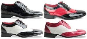 Richelieu Gangster Bicolore Chaussures Ebay Noir Hommes Rouge Z1qEWzfxU